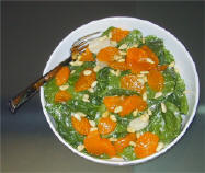 Baby Spinach Salad with Mandarin Oranges